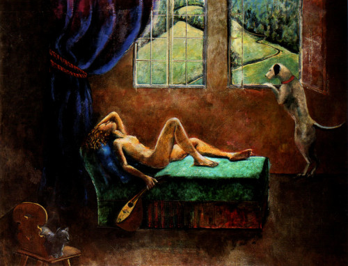 Girl with a Mandolin Balthus cats in art