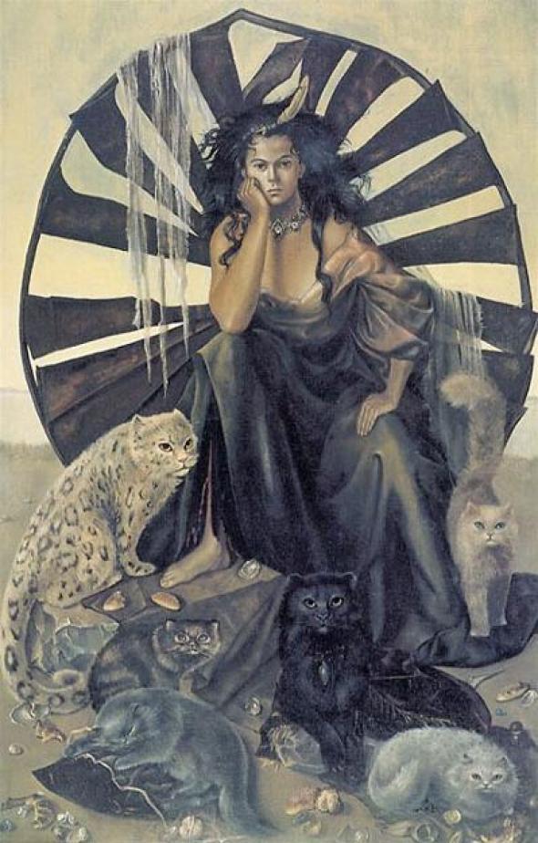 Leonor Fini La Vie Ideale (The Perfect Life) 1950 cats in art