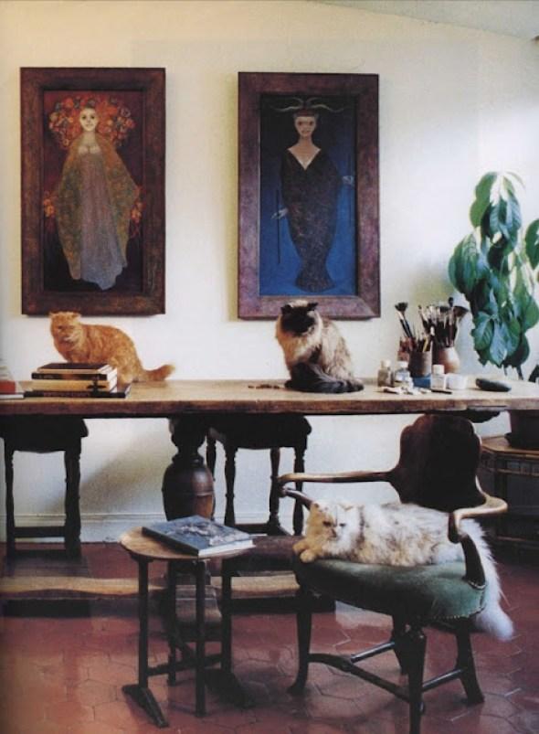 Leonor Fini's studio