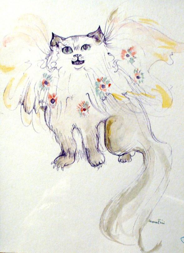 Chat au fleurs (Cat and Flowers)