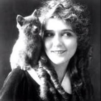 Mary Pickford and Cat cats in film, felines in film