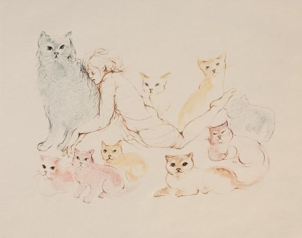 Peine de coeur - 1983 cats in art