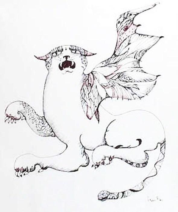 Winged Cat Leonor Fini