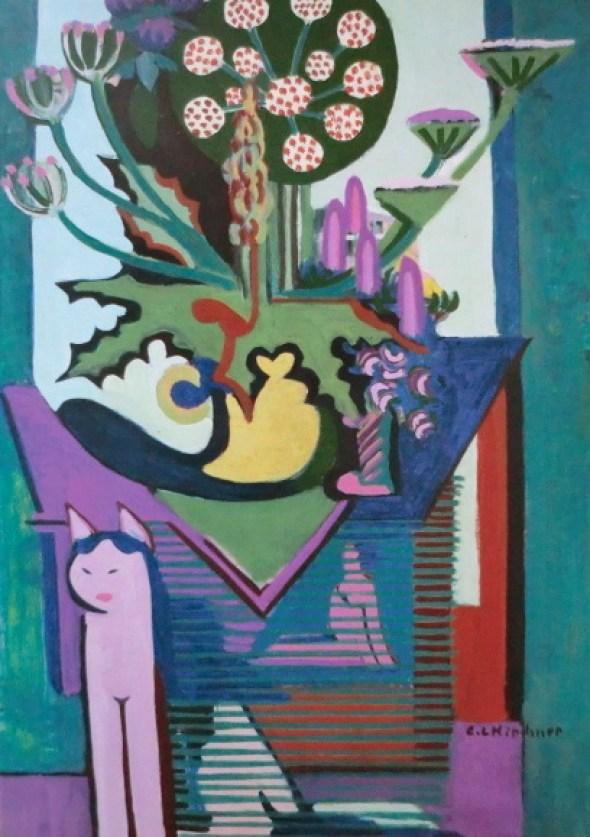 Kirchner Wiesenblumen und Katze 1931-32