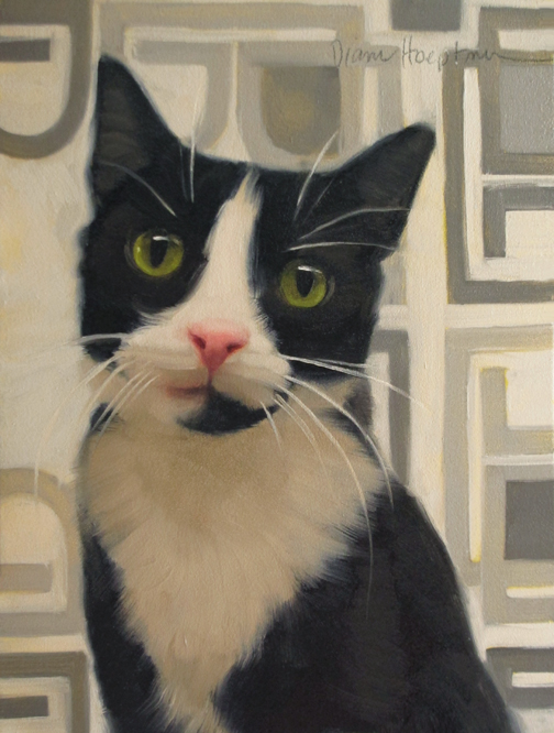 I'm Listening Diane Hoeptner, cats in art