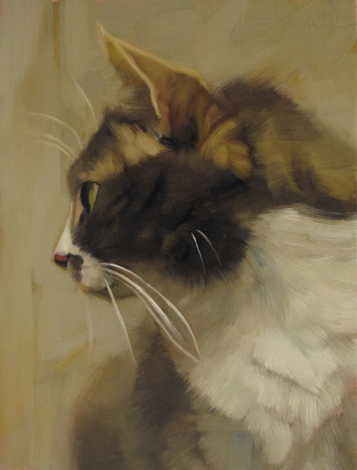 Profiled, cat paintings