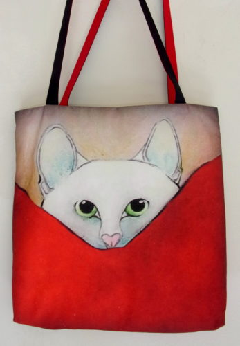 Tiny hiding-art bag, Carla Raadsveld