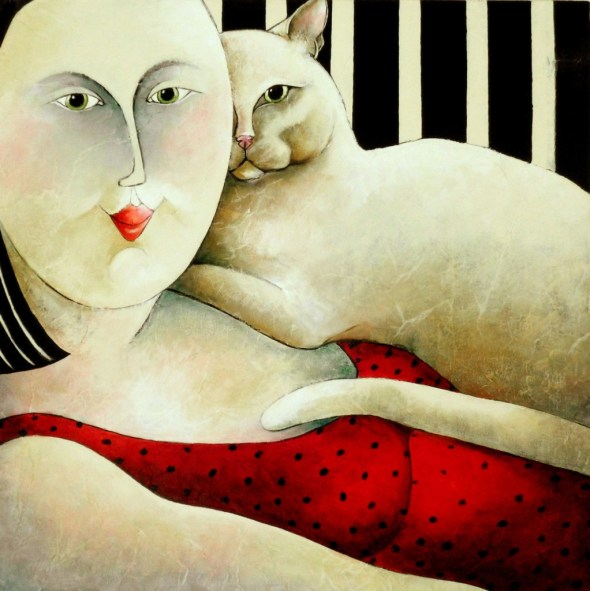 Us Carla Raadsveld, cats in art