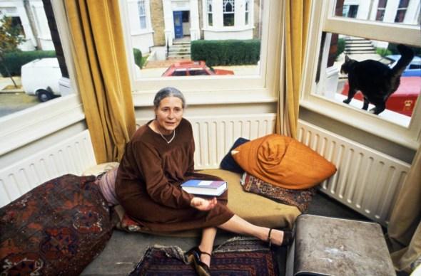 Doris Lessing and Cat 1984