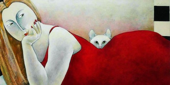 Lazy Afternoon Carla Raadsveld, cat paintings