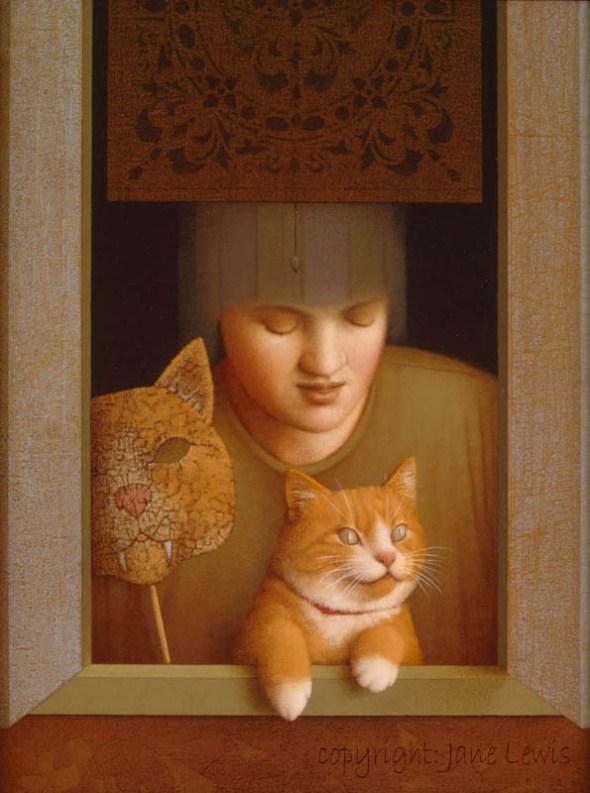 Jane Lewis, Tybert the Cat, art cats