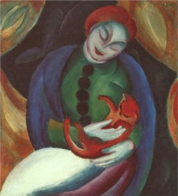 Franz Marc Girl with a Cat II 1912