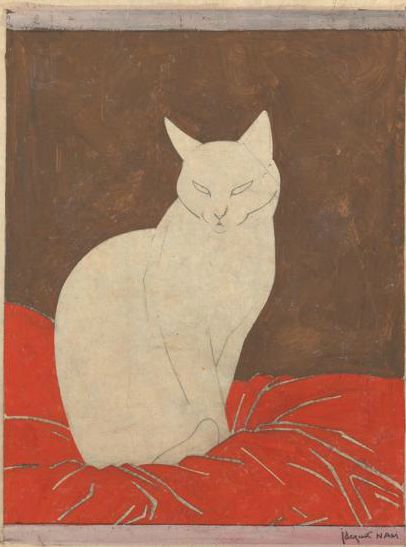 Siamese Cat 1920, Nam, cats in art