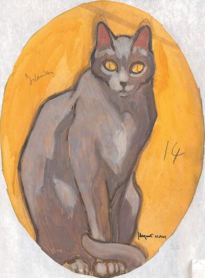 1930-Chat Irlandais(Irish Cat) - Design for a decor