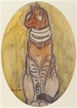 1930-Chat dEgypte, Egyptian cat in art