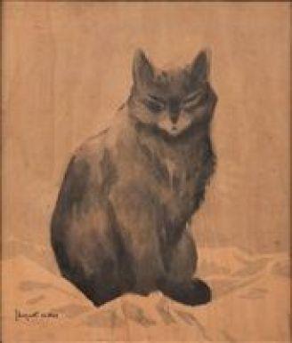 Brown cat, art cats