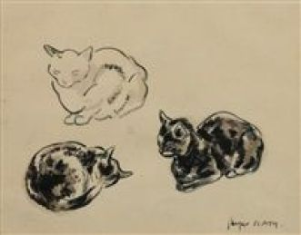 Chats study by Jacques Lehmann Nam