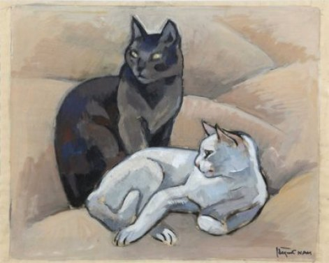 Two Cats Black and White Lehmann Nam