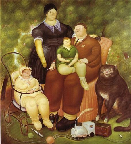 F. Botero Family Scene 1969