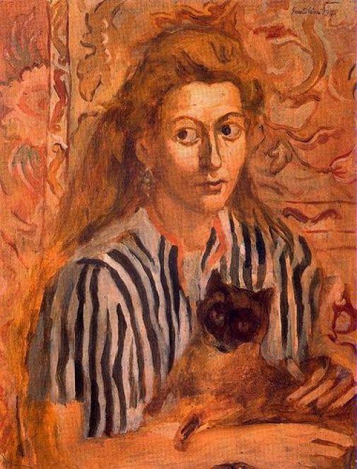 F. Gentilini Stephania with the Cat 1942