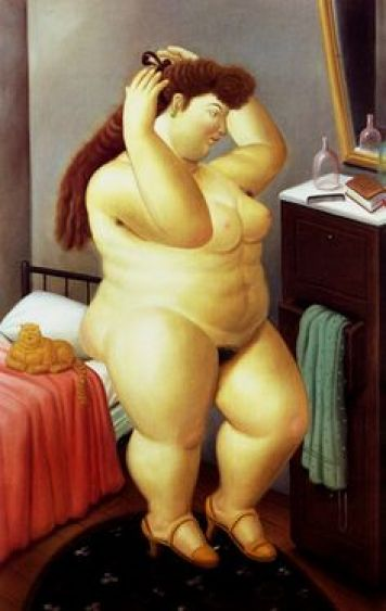 F. Botero Nude woman with cat