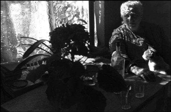 Madame Melie with Cat 1944, Henri Carter-Bresson