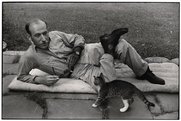 Saul Steinberg and Cat, Cartier Bresson