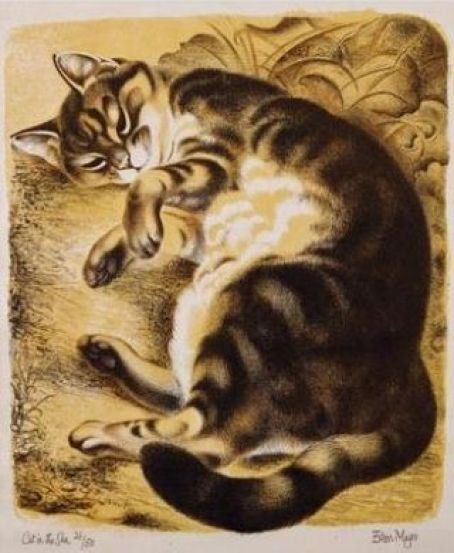 Cat in the Sun, Eileen Mayo, cats in art