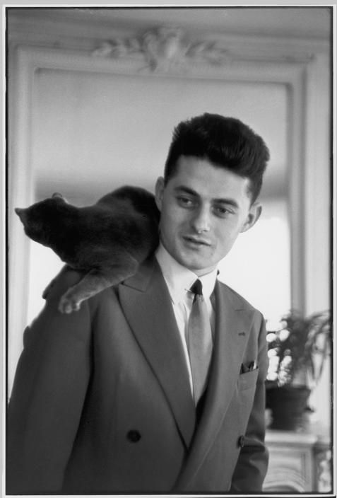 French Writer, Roger Nimier and Cat 1950, Bresson