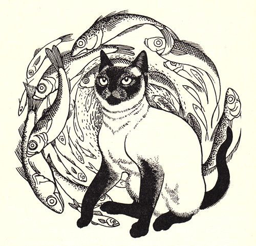 Illustration by Eileen Mayo from 'A Fine Place for the Cat' by Margaret Bonham