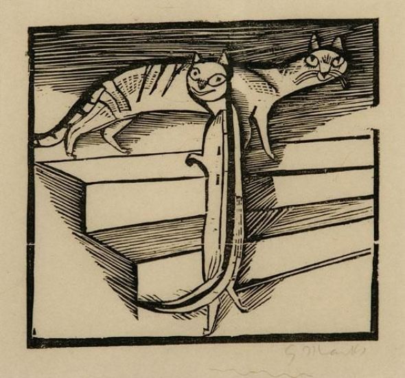G Marcks Die Kleinen Katzen (The Little Cats) 1922, cats in art