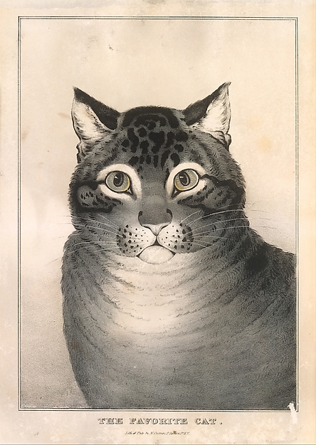 Currier and Ives, The Favorite Cat 1838-46 Metropolitan Museum of Art