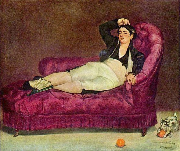 Manet Woman Reclining in Spanish Costume Yale University Art Gallery