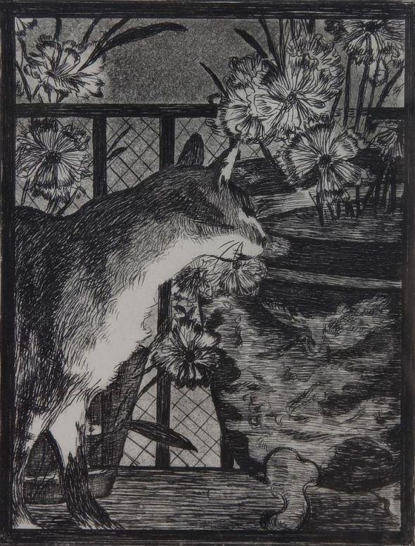 Le Chat et les Fleurs Cat and Flowers 1869, Edouard Manet