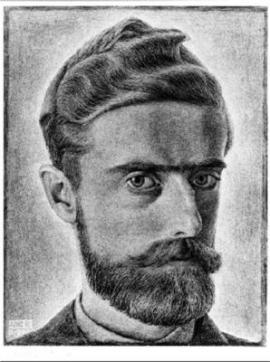 M.C. Escher self portrait