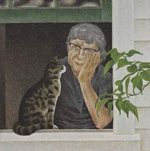 Woman and Cat, A. Colville