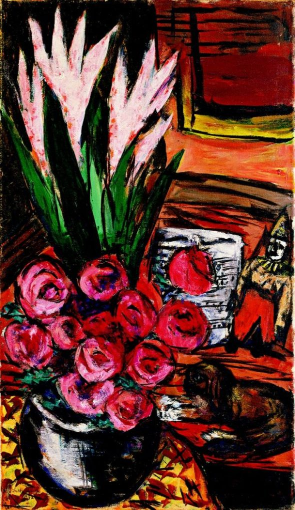 Max Beckmann cat and flowers