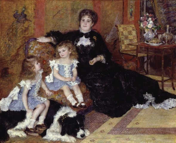 Auguste Renoir Madame Georges Charpentier and Her Children,(cat is barely visible on her lap The Metropolitan Museum of Art 1878