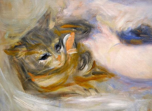 Pierre-Auguste Renoir (French, 1841-1919) - Mother and Child (detail), ca. 1895