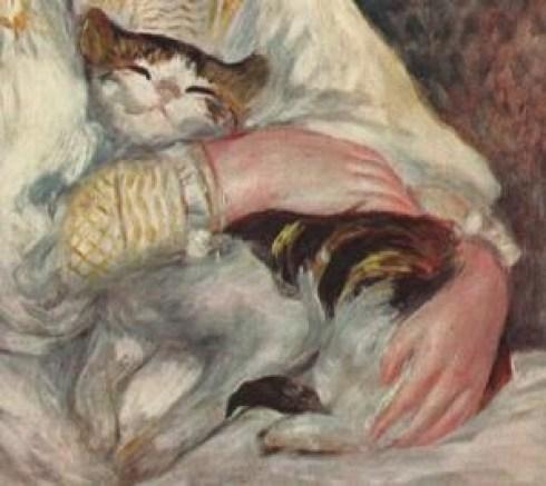 Renoir - Julie Manet (aka L'enfant au chat) - Detail