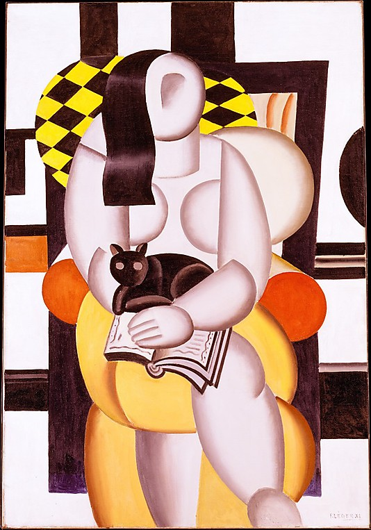 Fernand Leger, Woman and a Cat, 1921