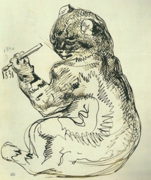 Delacroix, The Artist Portrayed as a Cat 1831