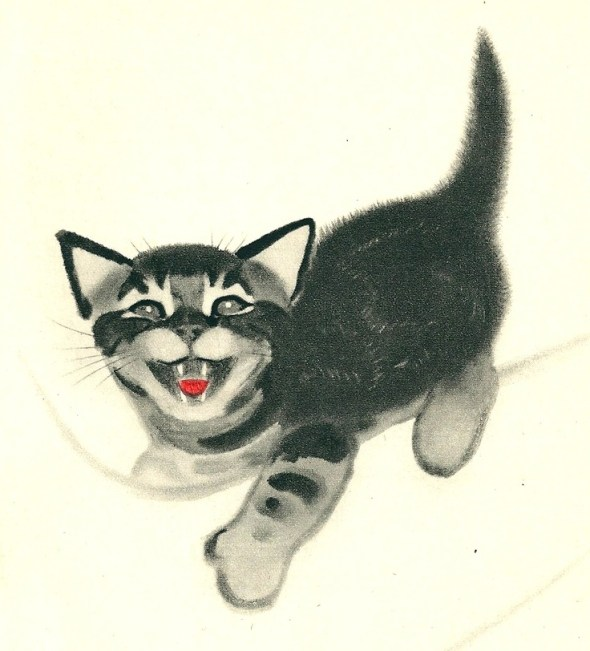 Clare Turlay Newberry Kitten Meowing