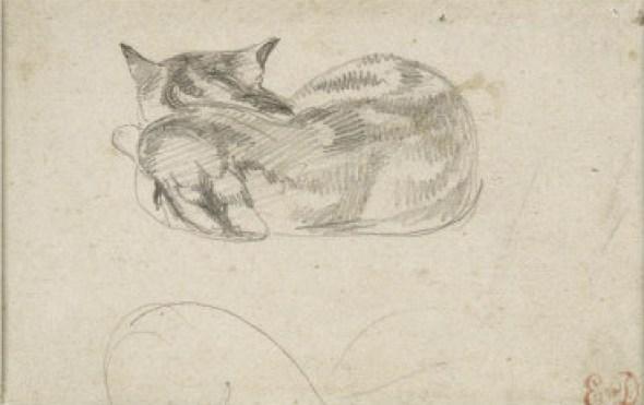 Eugene Delacroix, Sleeping Cat