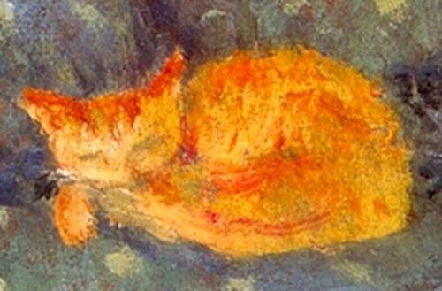 orange cat sleeping, P. Bonnard