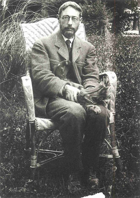Pierre Bonnard with Cat