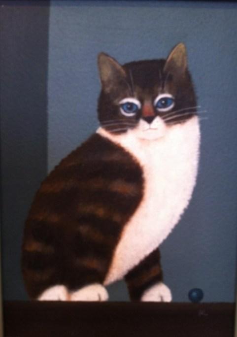 Hay, Martin Leman, cats in art, art cats, cat paintings