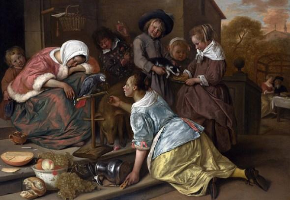 Jan Steen, The Effects of Intemperance, c. 1663-1665,