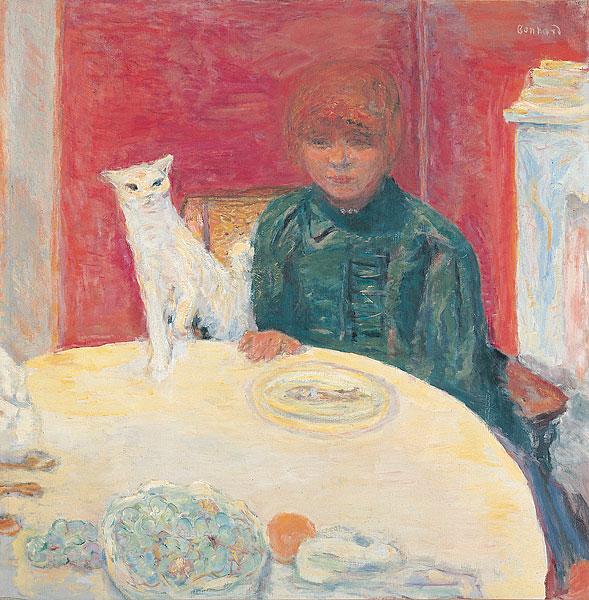 La femme au chat Woman with a Cat 1912, P. Bonnard