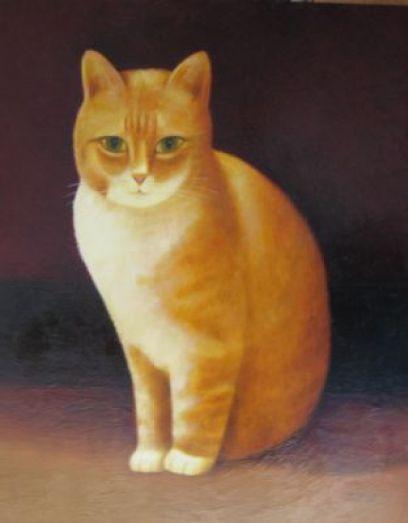 Marmalade and White Cat, Martin Leman